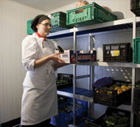 With Coolblok shelves, food can be prepared directly in GN containers, without having to move it to other containers